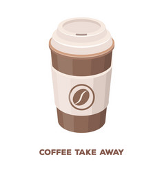 a cup of coffee to takeawaydifferent types of vector image
