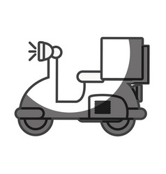 Silhouette delivery motorcycle transportation vector