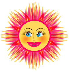 Bright smiling sun vector