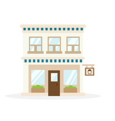 Store house flat design vector