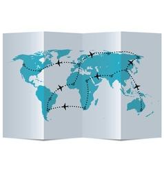 Paper map vector