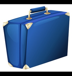 A blue suitcase vector