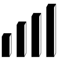 3d bar chart flat icon vector