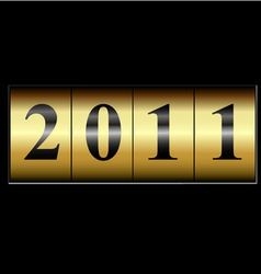 2011 new year counter vector