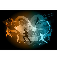 arrow runners vector image