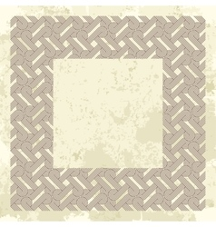 Template frame with pattern background vector