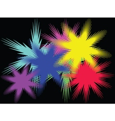 Background with color stars vector