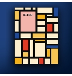 Retro bauhaus de stijl brochure booklet vector