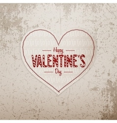 Valentines day greeting heart big banner with text vector