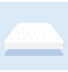 Plain white mattress vector