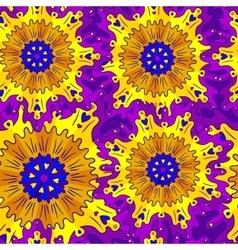 Bright pattern of circular ornaments vector