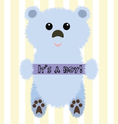 A bear for baby shower vector