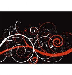 abstract spirals background vector image
