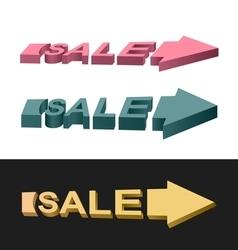 Arrows sale vector image vector image
