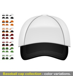 baseball cap mega collection vector image vector image