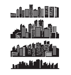 Big city icons vector