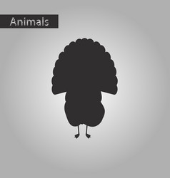 Black and white style icon of turkey vector
