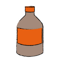 Bottle medicine pharmacy health supply vector