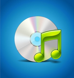 CD And Note vector image