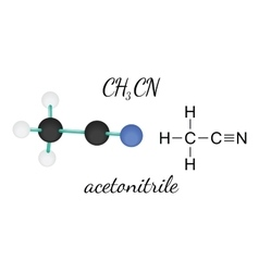 Ch3cn acetonitrile molecule vector