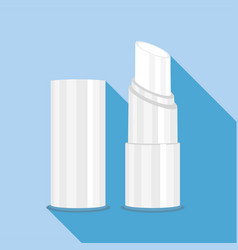 Chapstick icon flat style vector