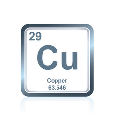 chemical element copper from the periodic table vector image vector image