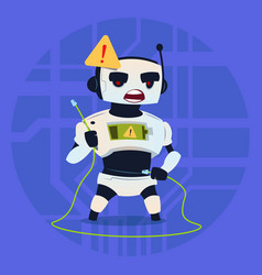 Cute robot error connection problem modern vector