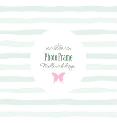 Elegant vintage template - oval frame with vector