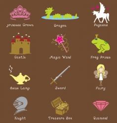 fantasy icons vector image vector image