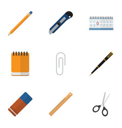 Flat icon equipment set of clippers knife vector