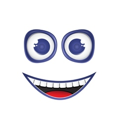 funny smile vector image