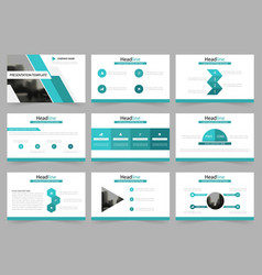 green abstract presentation templates vector image