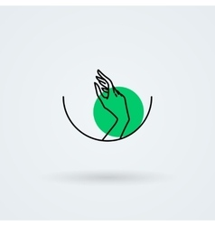icons with a graceful female hand in a vector image vector image