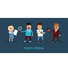 Mass media concept banner vector