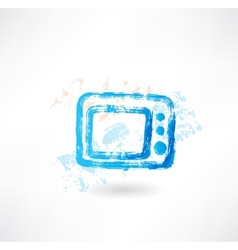 microwave grunge icon vector image vector image