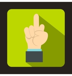 Middle finger hand sign icon flat style vector image