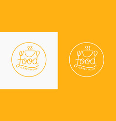 modern minimalistic logo of food and drawn vector image