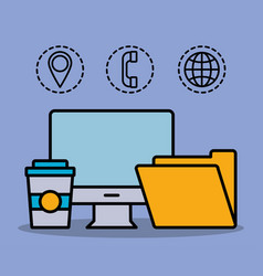 Office and business related icons vector