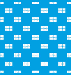 Postal parcel pattern seamless blue vector