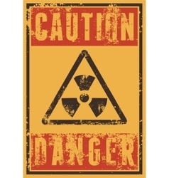 Radioactive Sign typography vintage grunge poster vector image