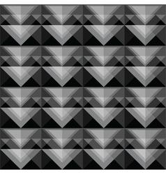 Seamless black triangle pattern design vector
