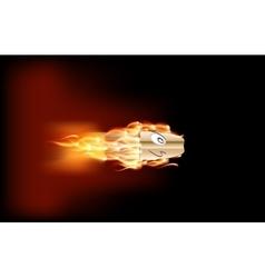 Shot from a Gun Bullet vector image