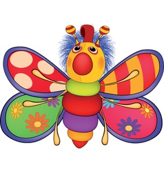 Soft toy the toy butterfly Cartoon vector image vector image