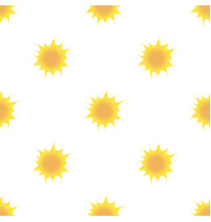 Sun icon in cartoon style isolated on white vector
