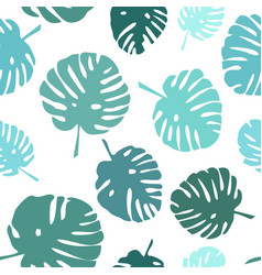 Tile tropical summer pattern vector