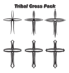 Tribal Crosses vector image