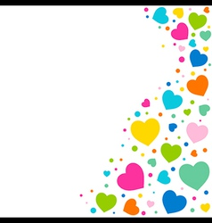 valentine day greeting background vector image
