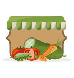 vegetables farming fresh organic image vector image