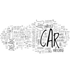What s your dream car text word cloud concept vector