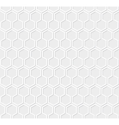 White honeycomb pattern vector image vector image